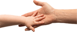 image of shaking hands representing child charities